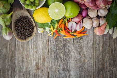 ingrediënt ruimte zwart op graan hout bovenaanzicht