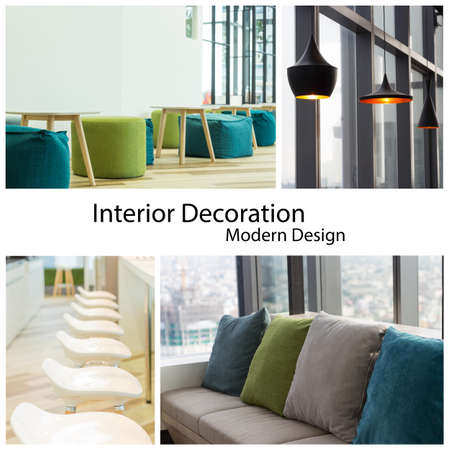 interior decoration modern design collection set photo