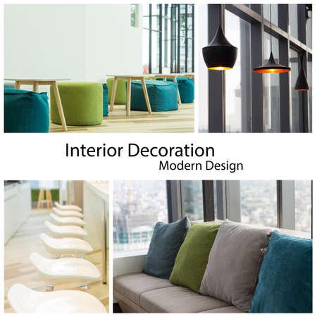 interior decoration modern design collection set photo