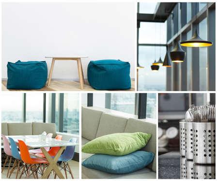 Interieur modern meubilair collectie Stockfoto - 37556357