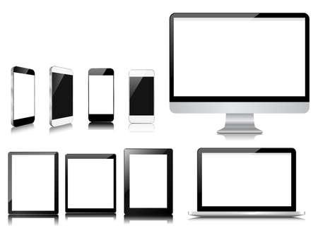 modern communication on white set Illustration