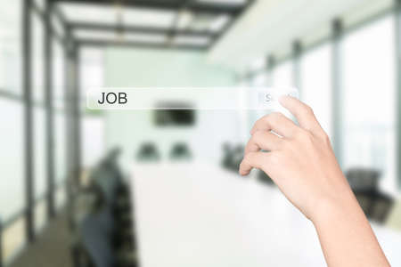 toolbar: hand click find job interface office interior background