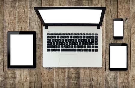 moderne technologie toestel wit scherm