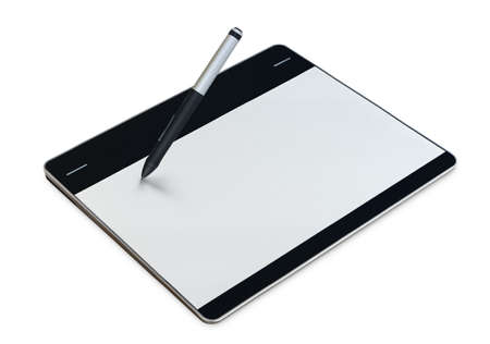 graphic tablet: graphic tablet isolated  inside on white