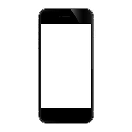 smartphones: phone isolated on white vector design Illustration