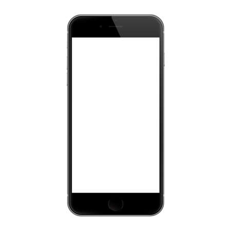 Bangkok, Thailand - Dec 7, 2015 : Realistic iphone 6 blank screen vector design, iphone 6 developed by Apple Inc.