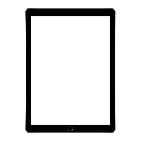 bespotten zwarte digitale tablet Stock Illustratie