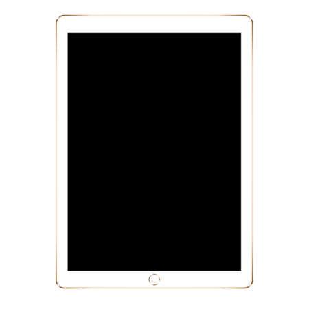 maquette tablette numérique or