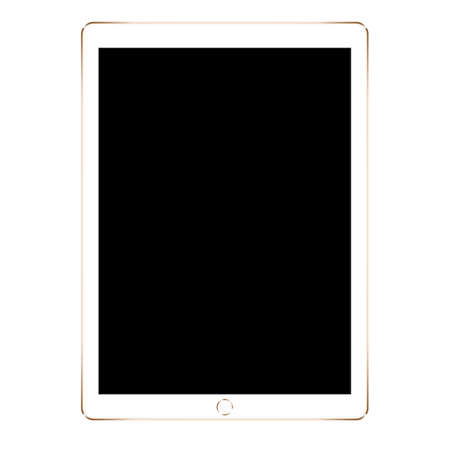 mock up gold digital tablet