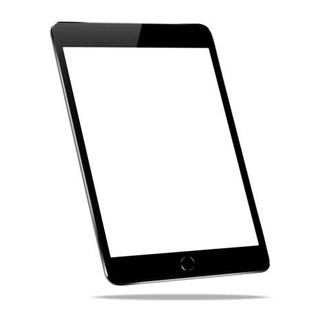 mockup black tablet isolated on white design Illustration