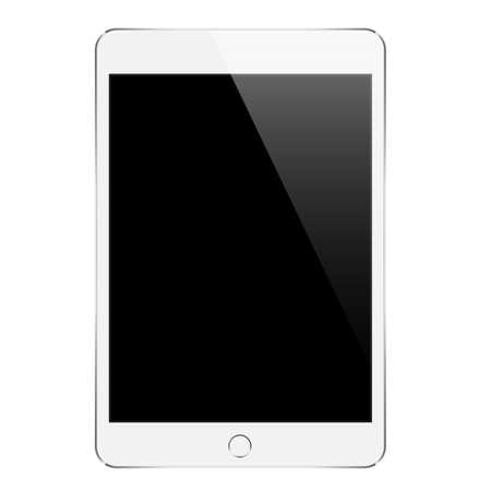 mock up white tablet isolated on white design Illustration