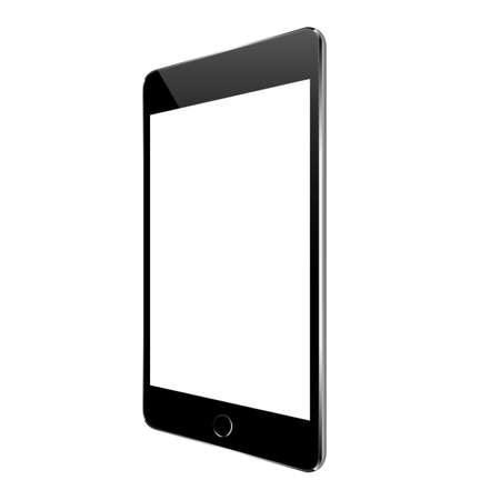 Zwarte tablet vector design Stockfoto - 54282356