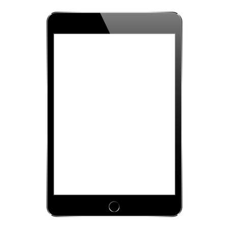 mock up black tablet isolated on white vector design