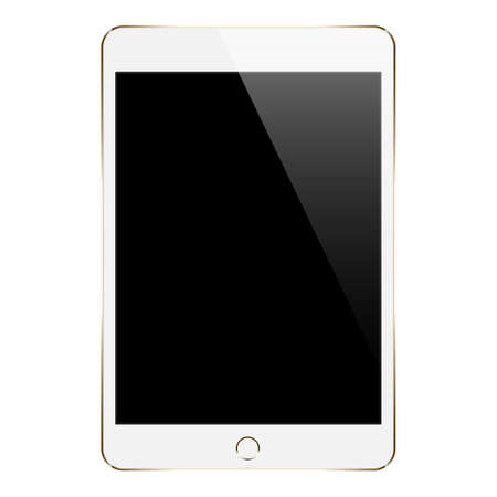 mock up tablet isolated on white vector design Çizim