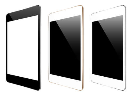 i pad: mock up tablet isolated on white vector design Illustration