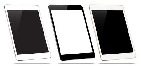 mock-up tablet geïsoleerd op wit vector design