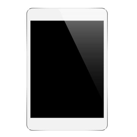 i pad: mock up tablet isolated on white design Illustration