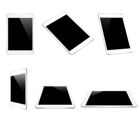 retina display: mock up white tablet isolated on white design Illustration