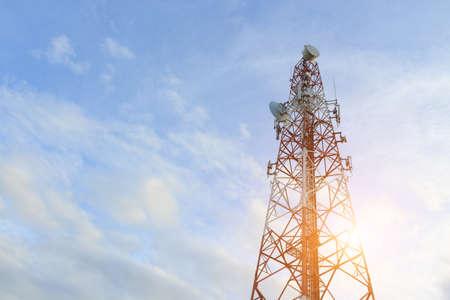 telecoom broadcasting tower Stock Photo
