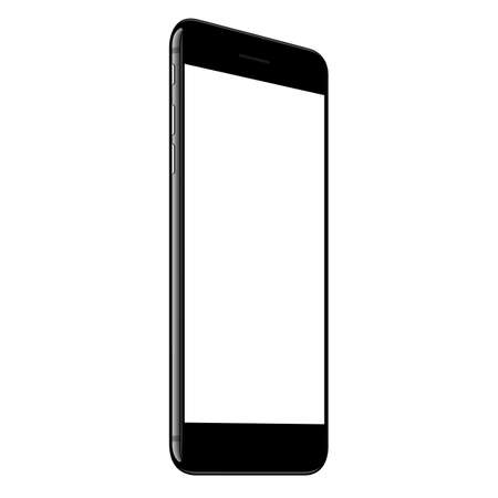 vector, mock-up telefoon wit scherm in perspectief Stock Illustratie