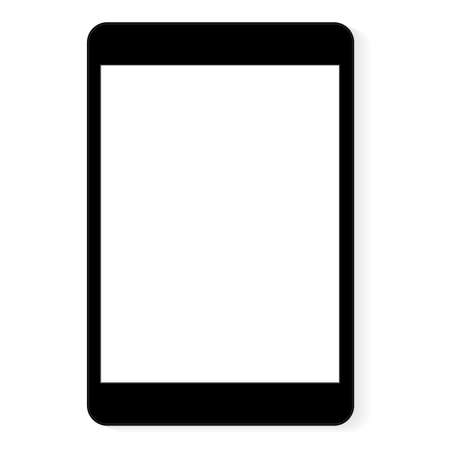 vector drawing black digital tablet white blank screen Çizim