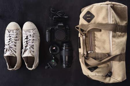 camera accesserie set ready to go outdoor concept