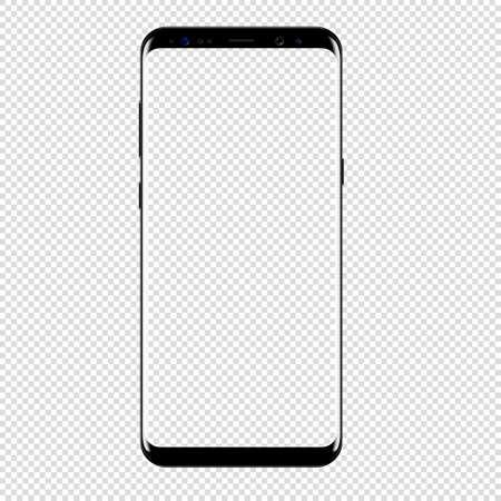Smartphone Vektor Zeichnung isolierten transparenten Hintergrund