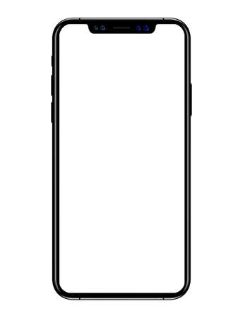 New phone vector drawing format isolated on white background