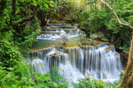 huay mae khamin waterfall in kanchanaburi province, thailand Stok Fotoğraf - 84794634