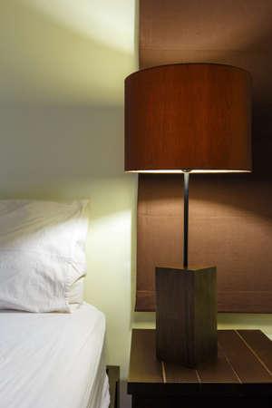 lamp on bedroom interior design