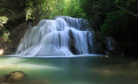 scenic huay mae khamin waterfall in kanchanaburi province, thailand
