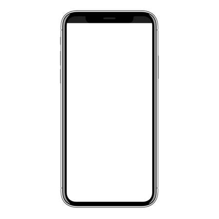 nowy inteligentny telefon komórkowy wektor rysunek na białym tle Ilustracje wektorowe