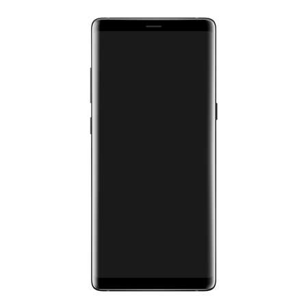 High detail new phone vector drawing isolated on white background