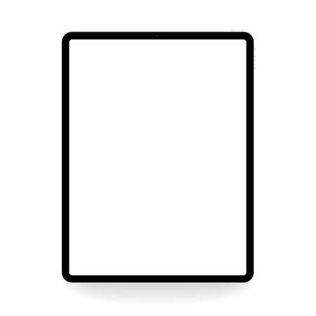 vector drawing digital tablet isolated on white