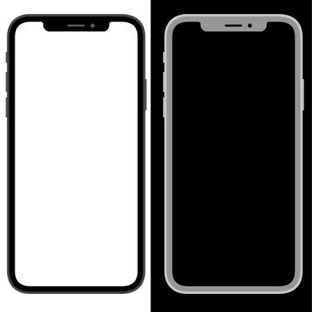 modern phone simple flat design isolated