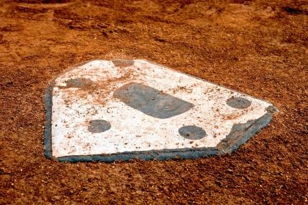 home plate at a little league baseball park Stock Photo - 18877724
