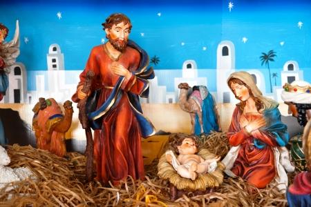 wisemen: nativity scene inside Mt St Benedict Church, Trinidad