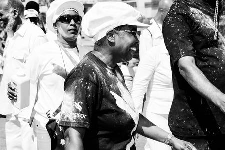 part of me: Trinidad, West Indies - 5 de febrero de 2008 - Banda de marineros con polvo de participar en las celebraciones de Carnaval Martes el 5 de febrero de 2008 en Puerto Espa�a, Trinidad WI