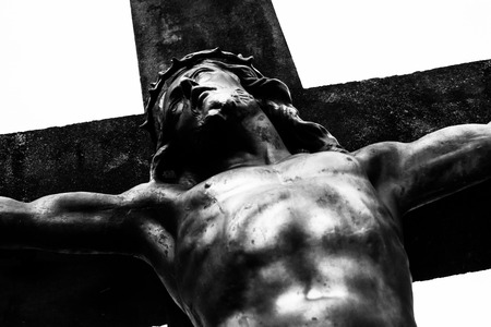 crucify: statue depicting the crucifixion of Jesus Christ