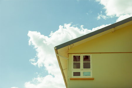 section of a house against sky in the caribbean