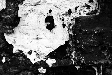 peeling paint: peeling paint leaves wall faces abstract