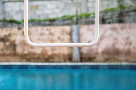swimming pool and wall abstract Stock Photo