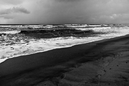 dramatic weather at a beach in the caribbean