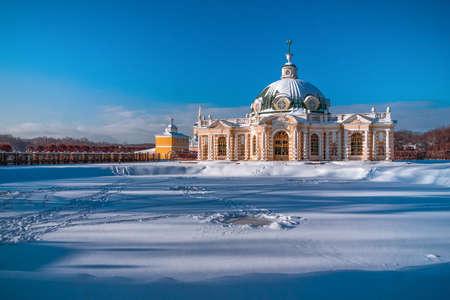 estate: Winter landscape. Moscow. Kuskovo.