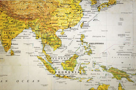 Map of Thailand Stock Photo