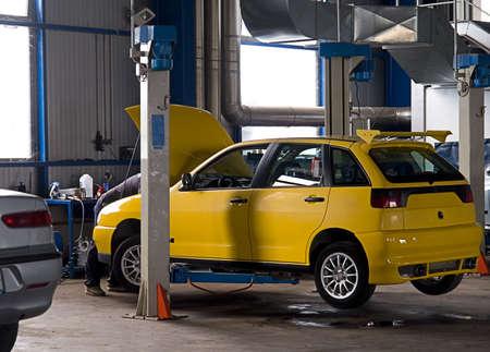 Auto garage Stock Photo
