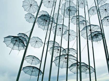 Umbrellas sculpture