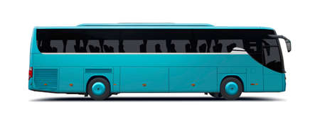 Bus side view isolated on white Stock Photo