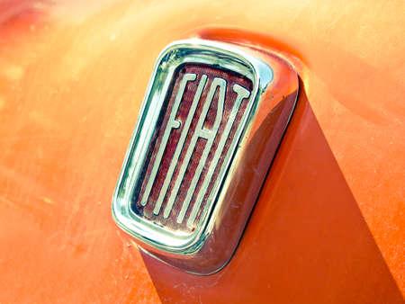 Old Fiat car logo Editorial