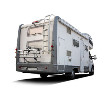 Back view of a motorhome Stock Photo